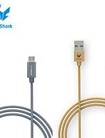 vecchio squalo ™ 3 piedi di nylon in fibra di micro dati cavo di ricarica USB per Samsung Galaxy S6 e altri