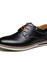 Men's Shoes Office & Career/Casual Leather Oxfords Black/Navy