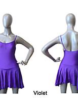 Balé Vestidos e Saias Mulheres / Crianças Actuação / Treino Nailon / Licra Pano-Lateral 1 Peça Vestidos As the Size Chart
