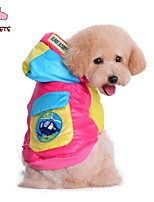 FUN OF PETS® Colourful Costume Coat with Hoodie and Back Pocket for Pets Dogs(Assorted Sizes and Colours)