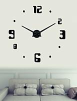 Uermerstar DIY Large 3D Black Numbers Wall Clock Diameter 39 in