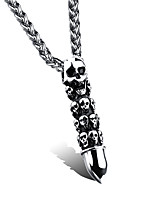 Necklace Pendant Necklaces Jewelry Wedding / Party / Daily / Casual Fashion Titanium Steel Black and White 1set Gift