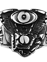 Brand Mens Jewellery Ring Stainless Steel Jewelry Men Rings One Eye Cyclops Totem Mayan Civilization Punk Rings