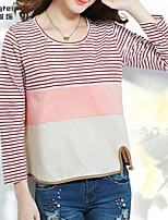 Women's Blue/Red T-shirt Long Sleeve