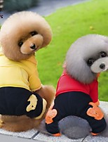 Casacos / Calças - Inverno - Vermelho / Amarelo - Casamento / Fantasias - de Algodão / Malha polar - para Cães / Gatos - XS / S / M / L