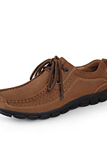 Bigs Size 38-45 Men's Shoes Outdoor / Office & Career / Athletic / Casual Leather Oxfords Brown / Burgundy / Khaki