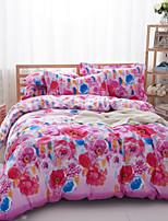 florale rose coton literie ensemble de 4pcs