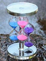 ornements artisanat de sablier de verre de cristal d'ameublement trois couleurs