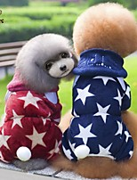 FUN OF PETS® Stars Pattern England Style Coat with Hoodie and Pants for Pets Dogs (Assorted Sizes and Colours)