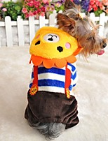 FUN OF PETS® Cartoon Lion Head Pattern Coat with Pants for Pets Dogs(Assorted Sizes and Colours)