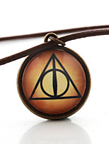 Triangle Saint Cabochon Glass Cosplay Jewelry Necklace Harry Potter