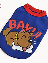 FUN OF PETS® Cartoon Baku Puppy Pattern Stripe Design Vest for Pets Dogs(Assorted Colors and Sizes)