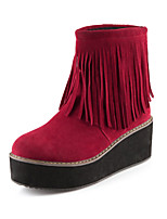Women's Shoes  Wedge Heel Fashion Boots/Round Toe Boots Casual Black/Red/Beige