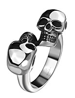 Mens Jewellery Rings 316L Stainless Steel Jewelry Men Ring Twins Skeleton Gemini Skull Punk Vintage Rings
