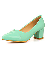 Women's Shoes Chunky Heel Comfort / Pointed Toe Heels Office & Career / Dress / Casual Black / Blue / Pink / White