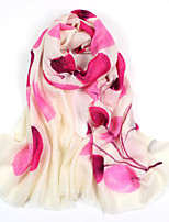 Women's Winter 100% Wool Hand printed scarf Scarf