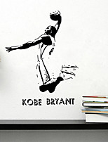 Wall Stickers Wall Decals Style Sports Celebrity Kobe PVC Wall Stickers