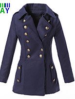 ZAY Women's Winter Fashion Warm Double Breasted Long Sleeve Coat