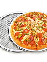9 pulgadas pizza redonda para hornear pan malla neta espesar bandeja para pizza de aluminio