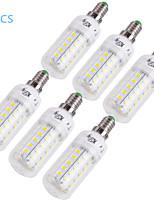 youoklight® 6ks E14 / E27 12 wattů 1000lm CRI>80 3000K / 6000K 48 * smd5730 LED světlo kukuřičného žárovku (110-120v / 220-240)
