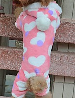 FUN OF PETS® Lovely Heart Pattern Jumpsuit With Hoodie For Pet Dogs(Assorted Sizes)