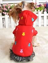 Invierno - Rojo / Azul / Amarillo / Gris - Boda / Cosplay - Algodón - Abrigos / Camiseta / Saco y Capucha - Perros / Gatos -XXS / XS / S