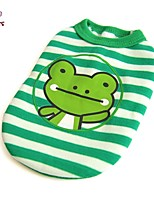 FUN OF PETS® Cartoon Frog Pattern Stripe Design Vest for Pets Dogs(Assorted Sizes)