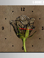 E-HOME® Water Rose Clock in Canvas 1pcs