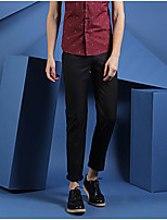 New trousers Slim casual pants feet tide male Korean wild thin business trousers Solid color England HNK0713