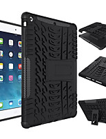 For Shockproof with Stand Case Back Cover Case Solid Color Hard Silicone for Apple iPad (2017) iPad Air 2 iPad Air