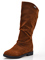 Women's Shoes Flat Heel Round Toe Mid-Calf Boots More Colors available