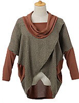 Women's  Casual Long Sleeve  Coat  Cotton