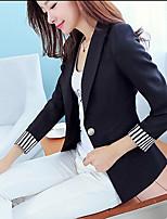 Women's Blue/Red/White/Black Blazer , Casual Long Sleeve