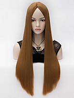 larga llena de cabello castaño rojizo cosplay peluca sintética recta luz de las nuevas mujeres