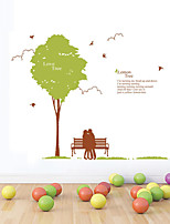 Wall Stickers Wall Decals Style Green Tree Lovers PVC Wall Stickers