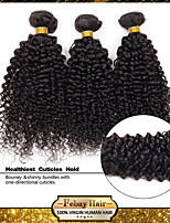 Unprocessed 7A Remy Brazilian Virgin Human Curly Hair Extensions Weave 3 Bundles