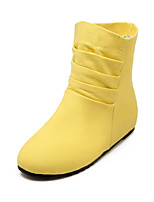 Women's Shoes Denim Wedge Heel Wedges/Fashion Boots/Round Toe Boots Dress/Casual Black/Yellow/White/Gray