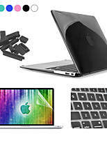 ENKAY 4 in 1 Crystal Hard Protective Case + Screen Protector + Keyboard Film + Anti-dust Plugs for MacBook Air 13.3 inch