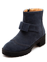 Women's Shoes Leatherette Chunky Heel Combat Boots Boots Casual Black / Blue