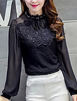Women's Mock Neck Stitching Fashion Shirts