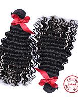 EVET Peruvian Loose Wave Curly Virgin Hair 2pcs Lot Peruvian Virgin Hair Curly Human Hair Weave Bundles Natural Black