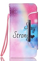 EFORCASE Stay Strong Split Lanyard Painted PU Phone Case for Galaxy S6 edge S6 S5 S4 S3 S5 mini S4 mini