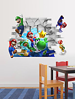 3D Wall Stickers Wall Decals Style Super Mario PVC Wall Stickers