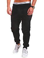Men's Sweatpants , Casual / Work / Sport Print / Striped Cotton Blend