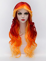 75cm Long Body Wavy U Part Hair MIxed Colors Synthetic Harajuku   Party Wig For Sexy Women