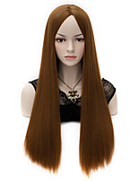 Sexy Women Long Straight Hair U Part Heat-resistant Synthetic Wigs