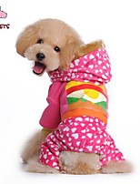 FUN OF PETS® Cute Food Printing Coat with Hoodie and Pants for Pets Dogs (Assorted Sizes and Colours)