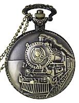 Fashion Locomotive Shape Vintage Alloy Quartz Analog Pocket Watch With Chains  (1 x LR626) Cool Watch Unique Watch