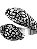 New Men's Fashion Double Boa Snake Stainless Steel Ring Anel Masculino Jewelry Gift US Size 8 9 10 11 Heads