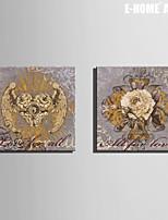 Botanical Print Canvas Due pannelli Pronto da appendere , Quadrato
